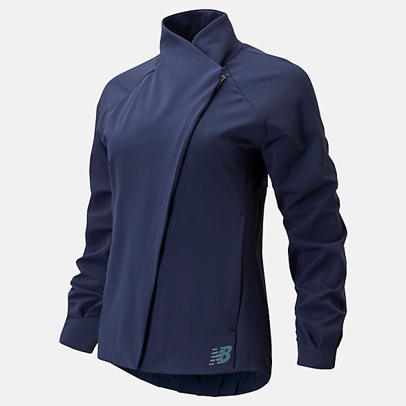 New Balance Q Speed Run Crew Jacket, WJ01262NGO