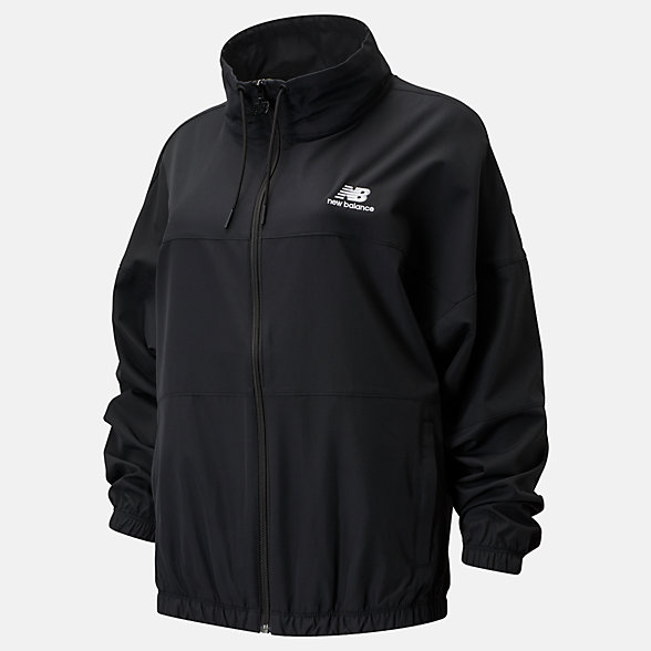 New Balance NB Athletics Windbreaker, WJ01501BK