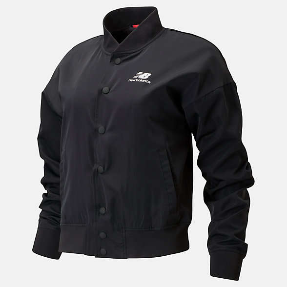 New Balance Essentials Core Bomber Jacket, WJ01505BK