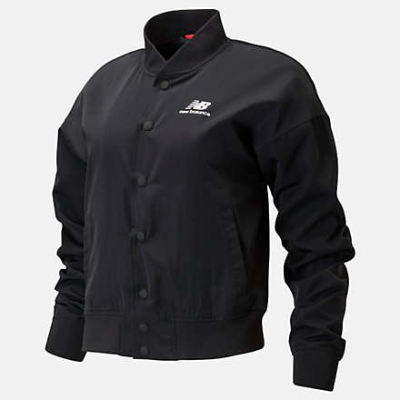 New Balance Veste de style aviateur Essentials Core, WJ01505BK image number null
