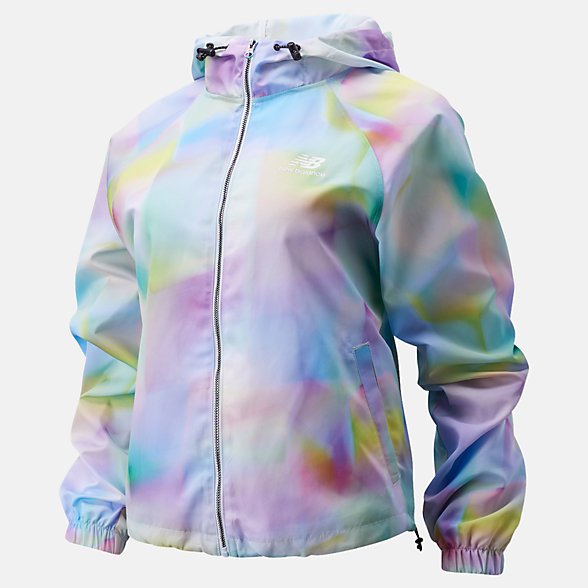 New Balance Essentials Soft Spectrum AOP Jacket, WJ01520WM