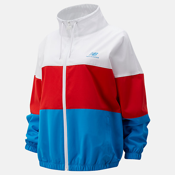 New Balance Boston NB Athletics Full Zip Windbreaker, WJ01600ZVLR