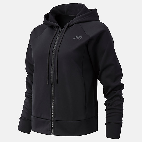 New Balance Relentless Tech Fleece Full Zip, WJ03145BK