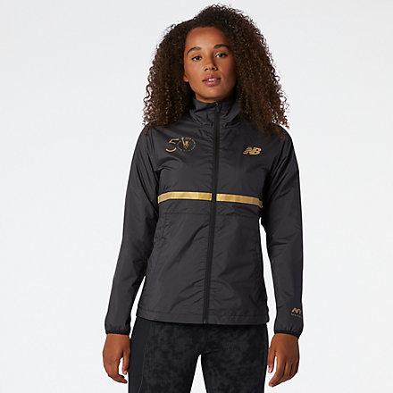New Balance NYC Marathon Jacket, WJ03200MBK image number null