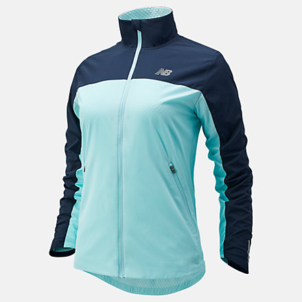 New Balance Accelerate Protect Jacket, WJ03214GLC image number null