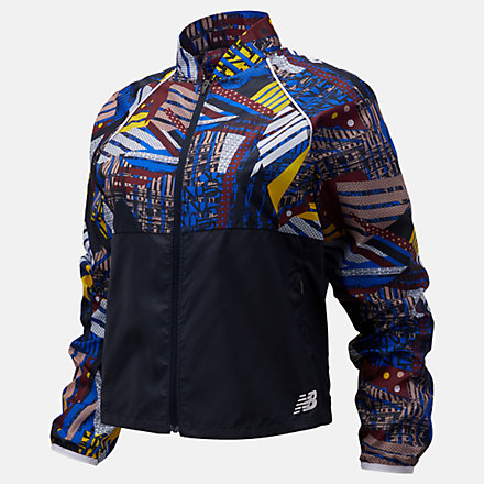 New Balance Printed Fast Flight Jacket, WJ03216ATY image number null