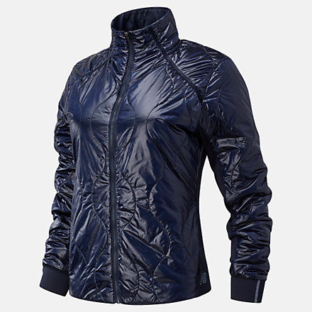 New Balance NYC Marathon Q Speed Quilted Jacket, WJ03266MECL image number null