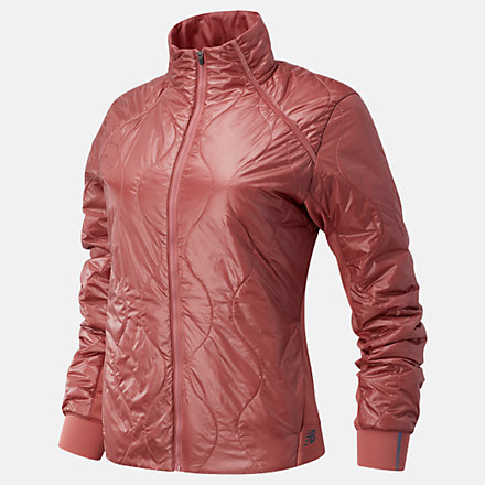 New Balance NYC Marathon Q Speed Quilted Jacket, WJ03266MOFF image number null