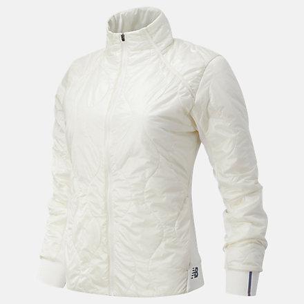 New Balance NYC Marathon Q Speed Quilted Jacket, WJ03266MSST image number null