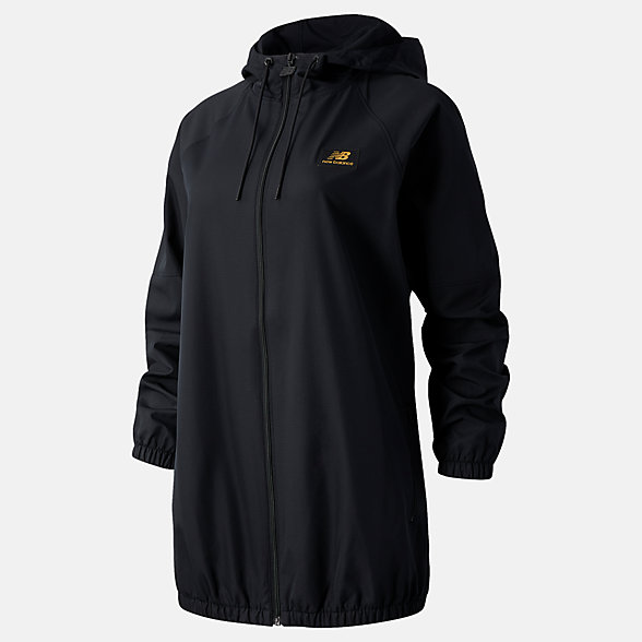 NB Chaqueta NB Athletics Podium Windbreaker, WJ03502BK