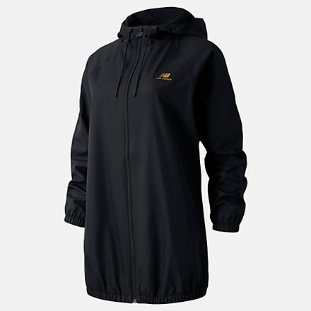 NB NB Athletics Podium Windbreaker, WJ03502BK image number null