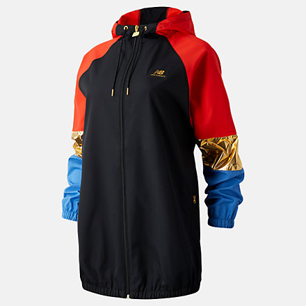 New Balance NB Athletics Podium Windbreaker, WJ03502BKM image number null