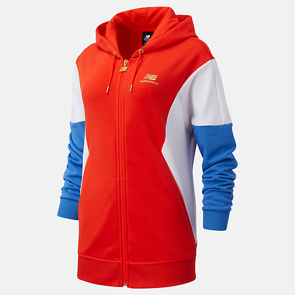 New Balance NB Athletics Village FZ Hoodie, WJ03504NEF