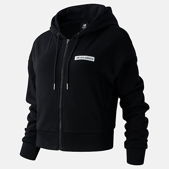 NB Sweats à capuche Sport Style Optiks FZ, WJ03512BK