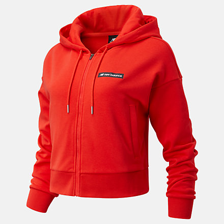 New Balance Sport Style Optiks FZ Hoodie, WJ03512ENR image number null