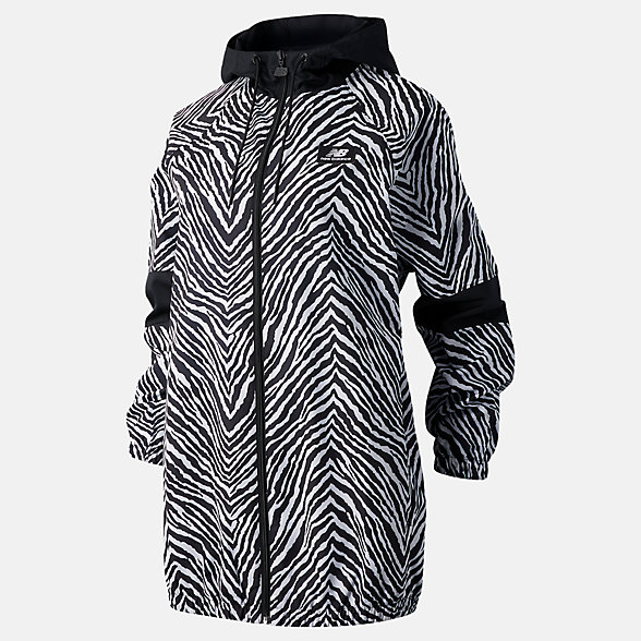 NB NB Athletics Animal Print Mix Jacket, WJ03531BKU