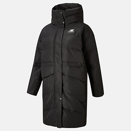 NB NB Athletics Terrain Long Synthetic Jacket, WJ03534BK image number null
