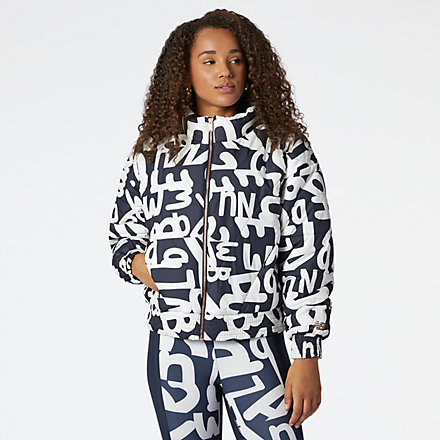 New Balance Determination Packable Printed Quilted Jacket, WJ11110ECL image number null