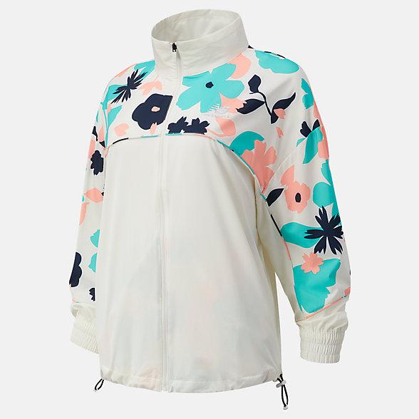 New Balance 女款印花立领外套, WJ1112YSST