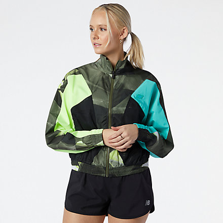 NB Achiever Printed Woven Jacket, WJ11160OLG image number null