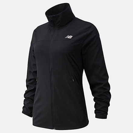 New Balance Core Run Jacket, WJ11210BK image number null