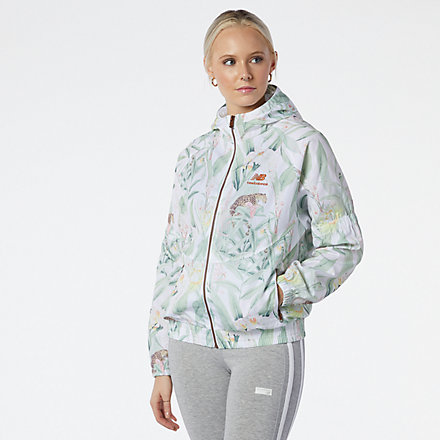 NB NB Essentials Botanical Jacket, WJ11504WHP image number null