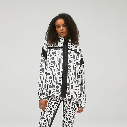 NB Relentless Printed Woven Jacket, WJ13173BKW image number null