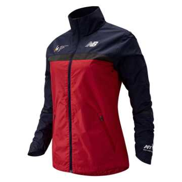 New Balance NYC Marathon Windcheater Jacket, Team Red