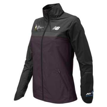 New Balance NYC Marathon Windcheater Jacket, Black Rose