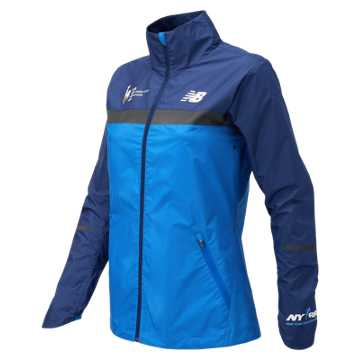 New Balance NYC Marathon Windcheater Jacket, Vivid Cobalt Blue