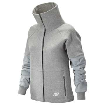 New Balance 247 Sport Mix Media Jacket, Athletic Grey