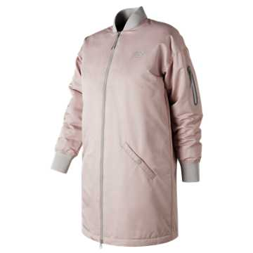 New Balance 247 Luxe MA1 Flight Jacket, Faded Rose