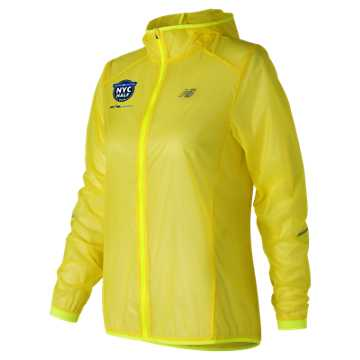 New Balance United Airlines NYC Half Ultralight Packable Jacket, Solar Yellow