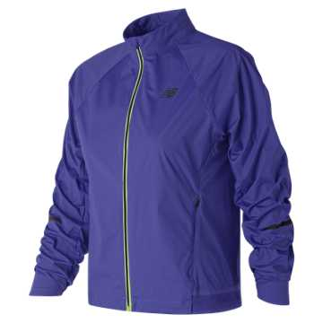 New Balance Vented Precision Jacket, Blue Iris