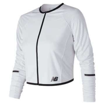 New Balance Q Speed Crop Jacket, White