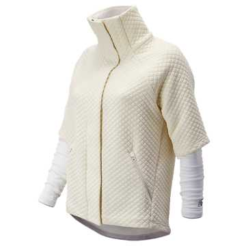 New Balance NB Heat Loft Intensity Jacket, Sea Salt
