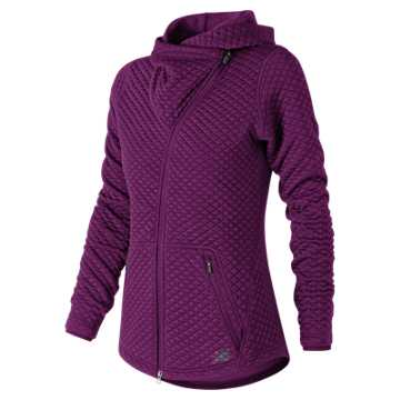 New Balance NB Heat Loft Asym Jacket, Claret