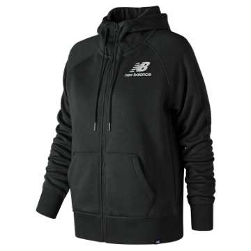 New Balance Essentials Brush Hoodie, Black