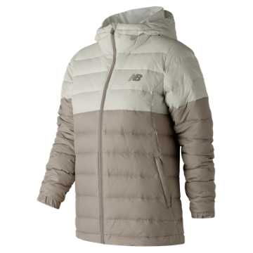 New Balance NB Heat Down 500D Jacket, Sea Salt