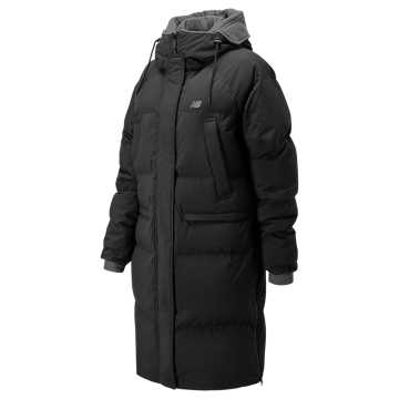 New Balance Yuna Long Down Jacket, Black