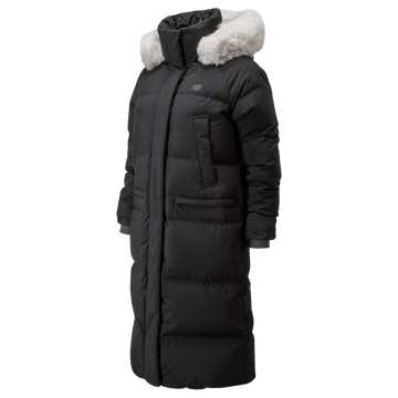 New Balance Yuna Maxi Fur Down Jacket, Black