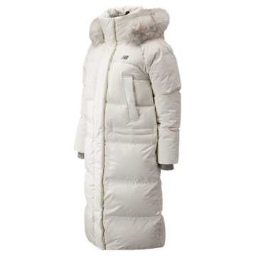 New Balance Yuna Maxi Fur Down Jacket, White