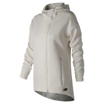 New Balance 247 Sport Full-Zip Hoodie, Sea Salt