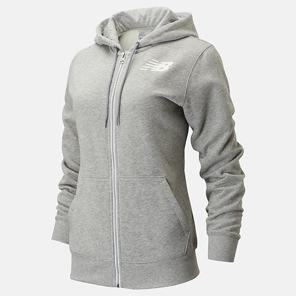 New Balance Core Fleece Full Zip, WJ83818AG