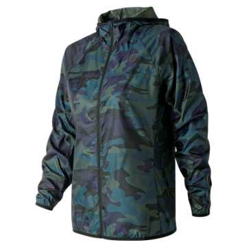 New Balance Printed Windcheater Jacket 2.0, Faded Rosin