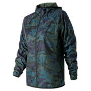 NB Printed Windcheater Jacket 2.0, Faded Rosin