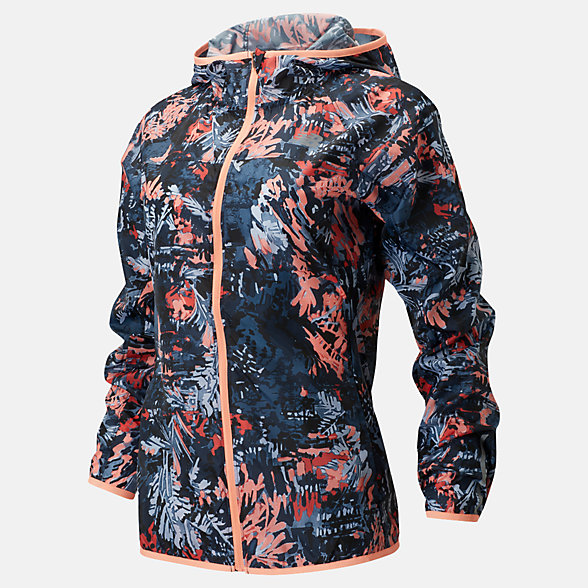 New Balance Printed Windcheater Jacket 2.0, WJ91160GPK