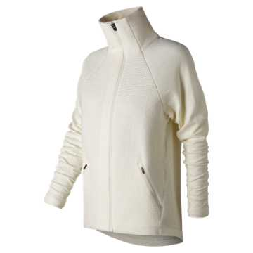 New Balance Captivate Asym Jacket, White