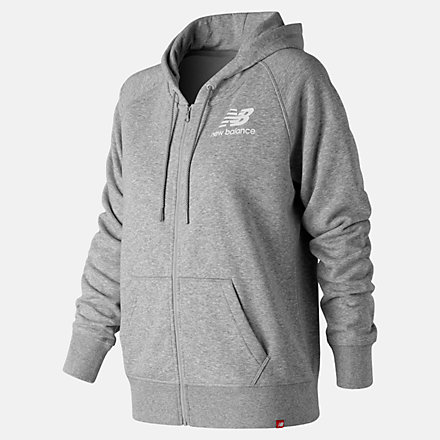 New Balance Essentials Full Zip Hoodie, WJ91524AG image number null