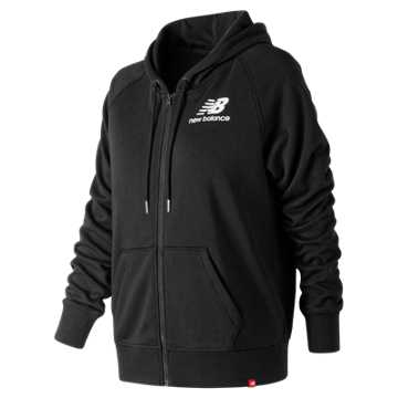 New Balance Essentials Full Zip Hoodie, Black
